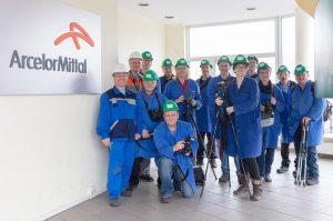 Warmwalzwerk von ArcelorMittal in Eisenhüttenstadt - Fotozirkel EKO e.V. - Fotoexkursion des Fotovereines