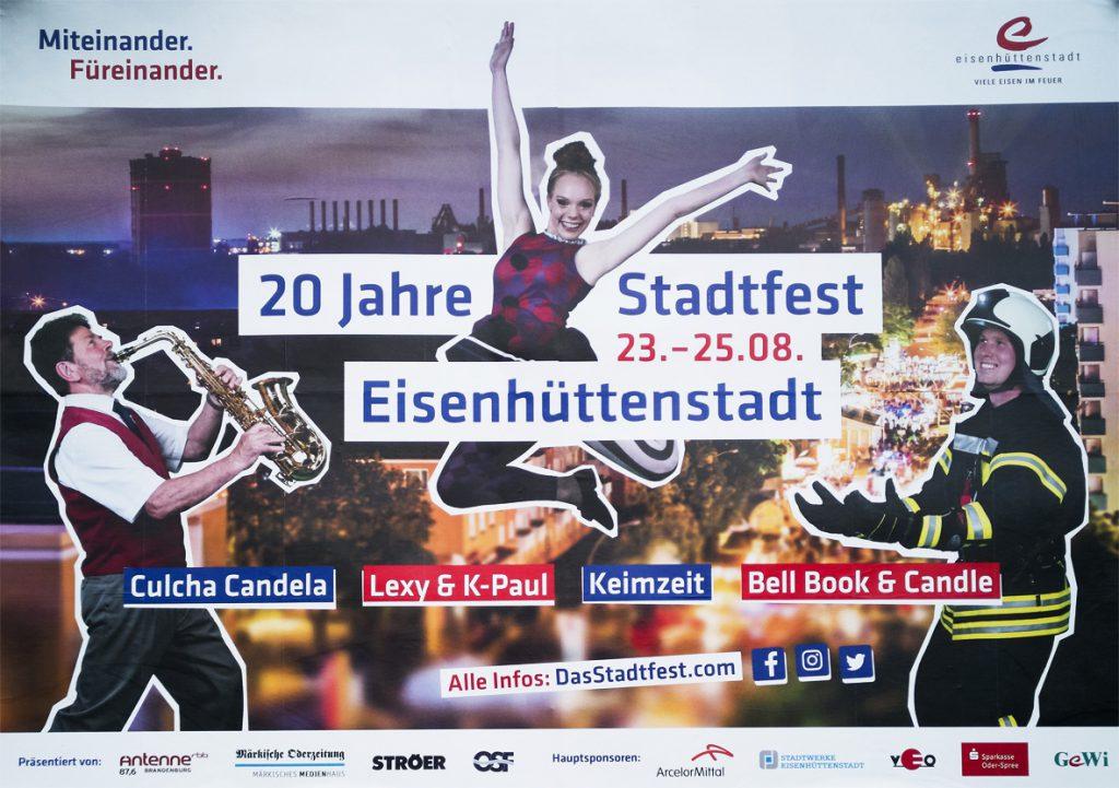 Stadtfest 2019 in Eisenhuettenstadt Werbeplakat
