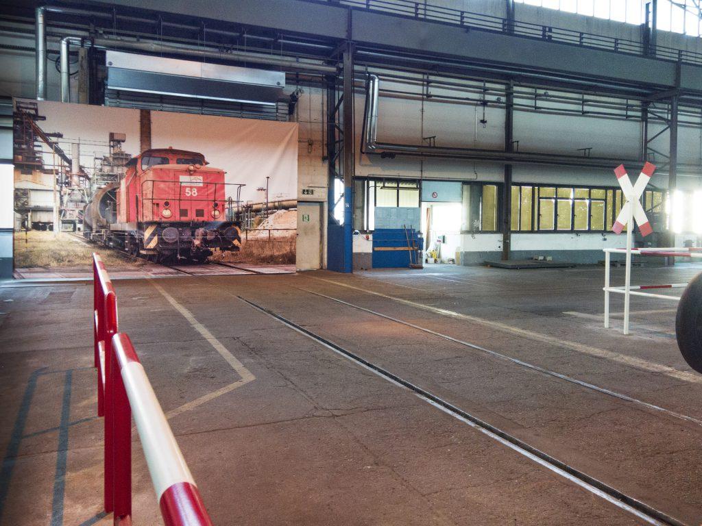 Lokbild in der Trainingshalle von ArcelorMittal in EisenhüttenstadtArcelorMittal